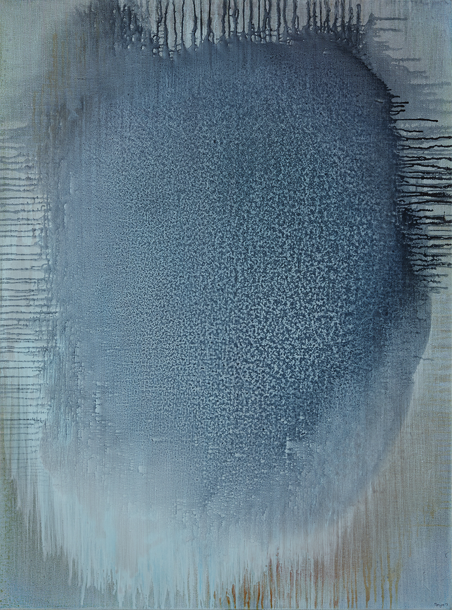 Tanya Wales, Abstract artist, Merrion Grove Residential Commission #1, Acrylic on linen
